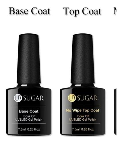 3 Pcs Base Coat - Top Coat Y Primer Esmalte Semipermanente
