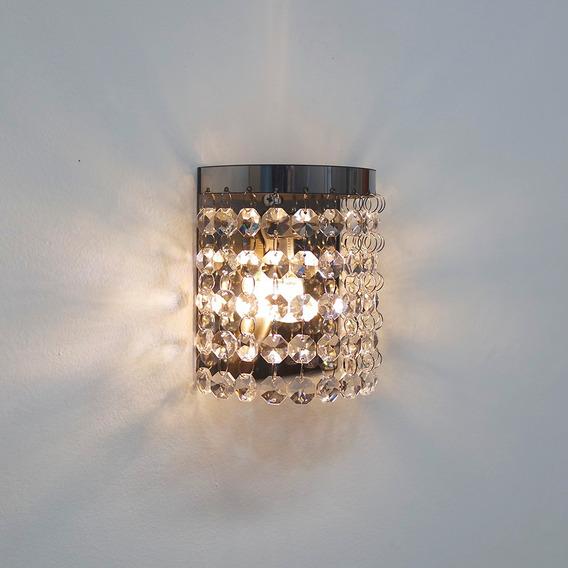 Arandela Parede Cristal P/ Quarto Banheiro Interna M2302