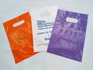 Sacolas Plasticas Personalizadas Varias Cores Vazada Preço