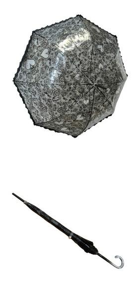 Paraguas Pvc Estampado Con Bolados Ec-2916