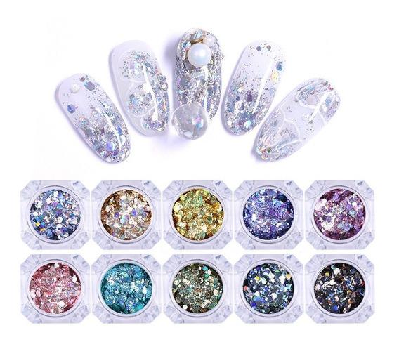 Polvo Unas Born Pretty Glitter Flakies Irregular Sequins