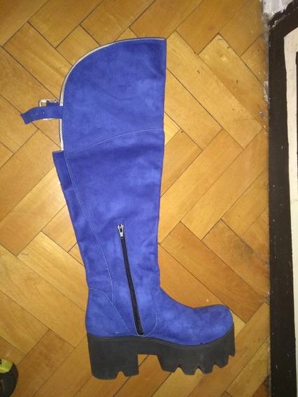 Botas Bucaneras. N° 39. Azules. Solo Una Postura!