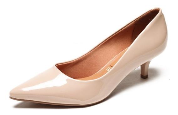 Sapato Scarpin Feminino Vizzano Salto Médio Bege 1122600