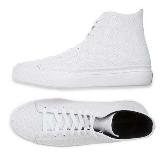 Converse De Lujo En Piel Premium Modern Hi White Suela Ultra