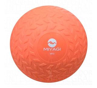 Balón Pelota Medicinal T/ Llanta Inflable 6 Kg Salmón Miyagi