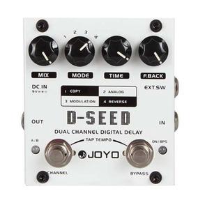 Pedal Guitarra Joyo D-seed Dual Chanel Delay Pronta Entrega
