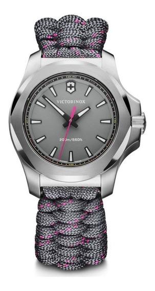 Relógio Feminino Victorinox I.n.o.x. V Cinza 241771 Original