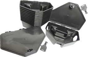 Kit 10 Porta Isca Com Chave Para Ratos