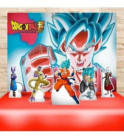 Festa Aniversário Dragon Ball Super Decoração Kit Prata