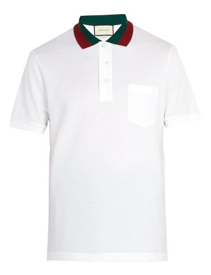 Camiseta Polo Marca Gucci Talla L Color Blanca