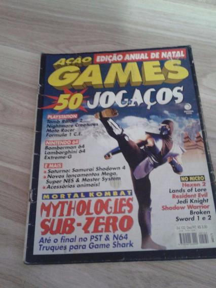 Revista Ação Games Edição Anual De Natal 50 Jogaços Nº122