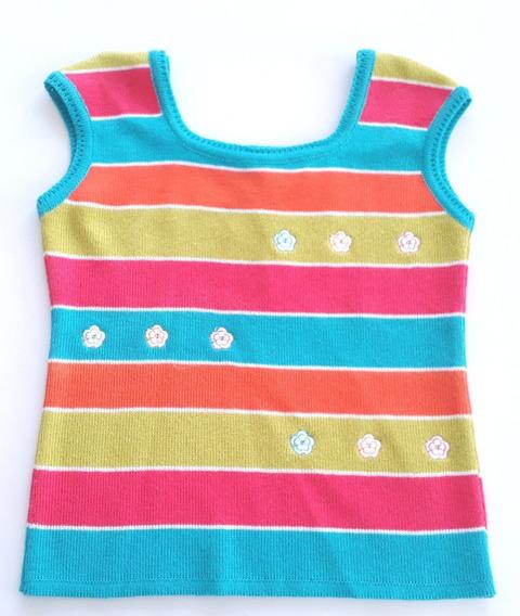 Camiseta Regata Infantil Linho Com Bordado Buá