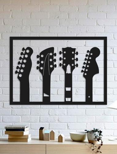 Imagem 1 de 2 de Quadro Decorativo Parede Música Trio Guitarras 90cm
