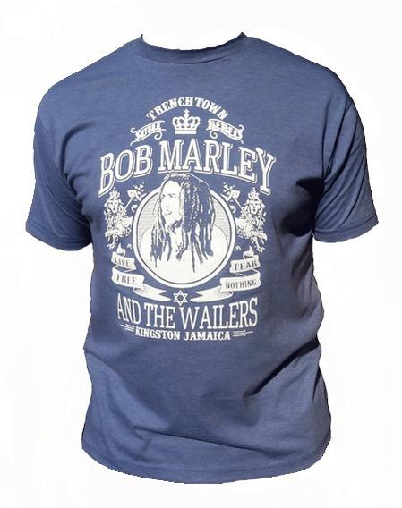 Remera Hombre Bob Marley. Trenchtown. Reggae.