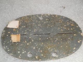 Placa De Identificação Tropa Elite S S,ww2, Feb,fab,marinha,