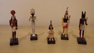 Lote De Estatuetas Egipcias Pintadas A Mão - Deuses Egipcios