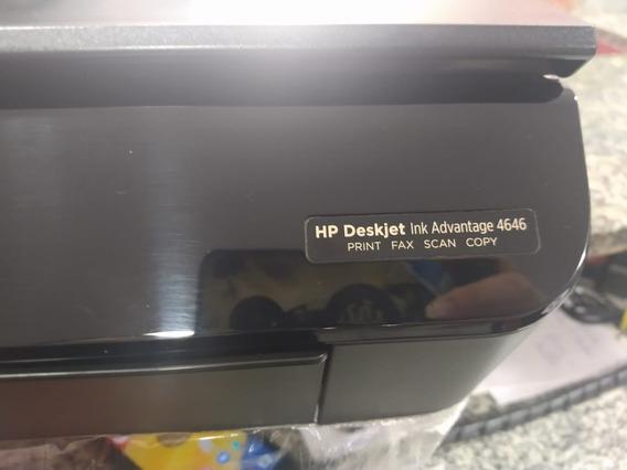 Impressora Hp Deskjet Ink Adantage 4646 Print Fax Scan Wifi