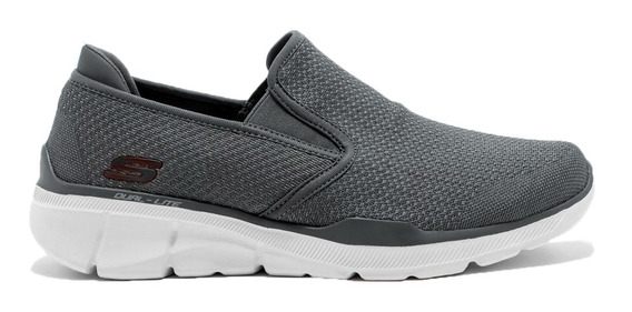 Skechers Mocasin Asures Gris Slip On Casual Memory Foam