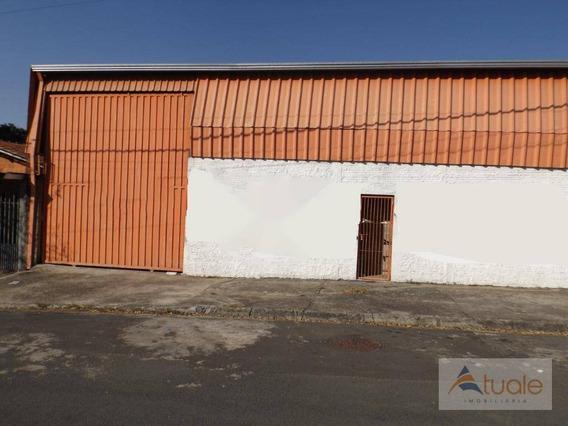Galpão Para Alugar, 300 M² - Vila Real - Hortolândia/sp - Ga0128