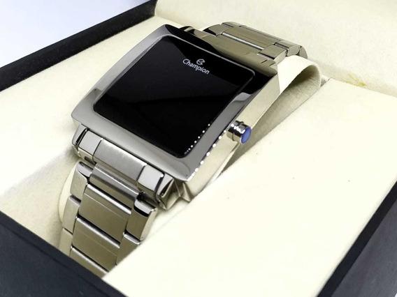 Relógio Prata Digital Quadrado Champion Ch40197t - Nfe