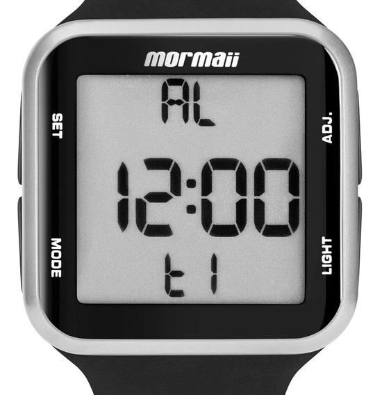 Relógio Mormaii Wave Preto / Prata Unissex Mo6600aa 8k