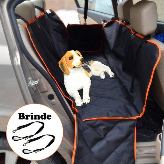 Capa Protetora Pet Banco Carro Luxo Cao Gato Meepets+2 Guias