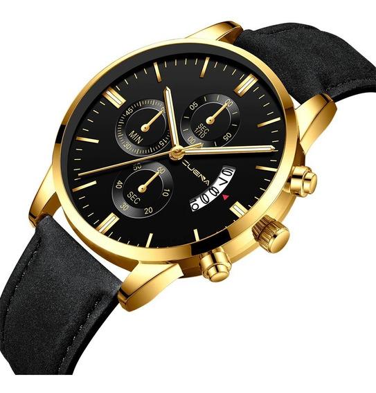 Relógio Masculino Caixa Aço Inoxidável Social Promoção