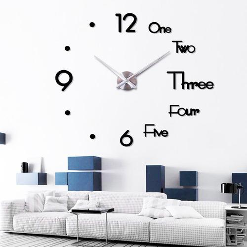 Imagen 1 de 9 de Reloj De Pared 3d Decorativo Moderno Acrílico 120 X 120cm