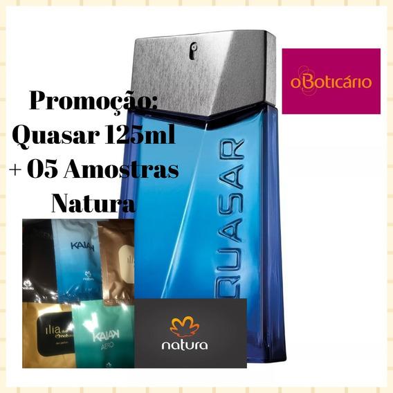 Promoção Quasar 125ml O Boticário + 05 Amostras (1ml) Natura