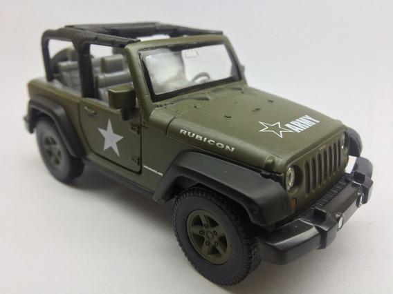 Miniatura Jeep Wrangler Rubicon Do Exercito Escala 1/43