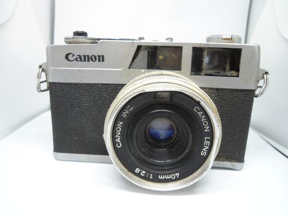 Maquina Fotografica Canon Canonet 28 - No Estado