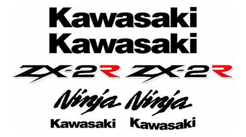 Faixa Emblema Adesivo Kawasaki Ninja 250r Zx 2r 25021 Zx2r
