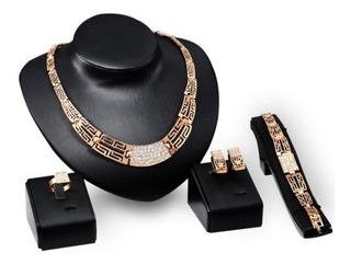 Estados Unidos Mujeres Boda Oro De Diamantes De Imitación De