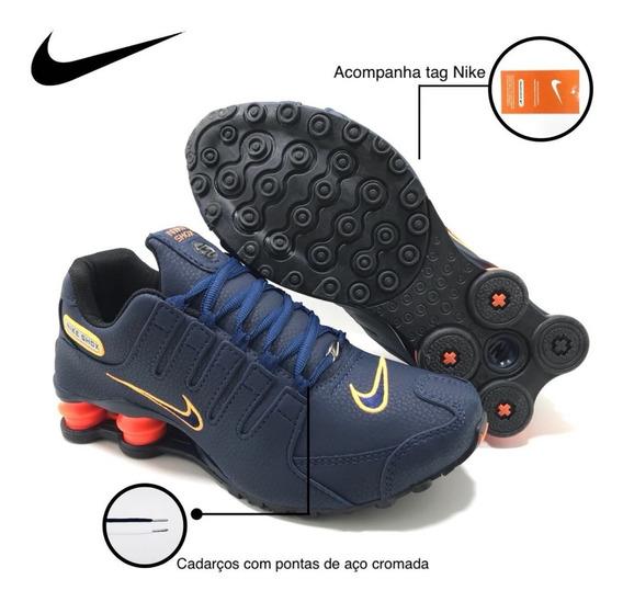 Tenis Nike Nz Sxhox Preto 4 Molas Laranja Original Todas Cor