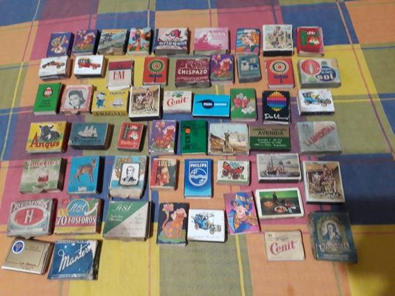 Coleccion 54 Cajitas Fosforos Nacionales Antiguas