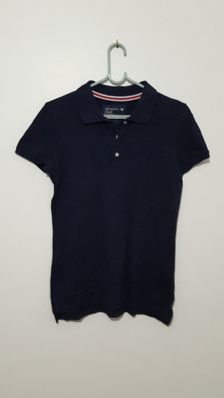 Camiseta Masculina Gola Polo Azul Marinho