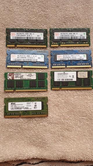 Lote Memoria Notebook Laptop (leia Anuncio)