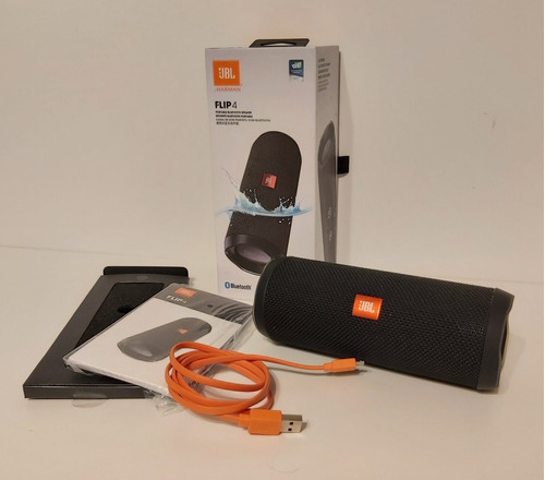 Parlante Bluetooth Jbl Flip 4 By Harman + Caja + Cargador