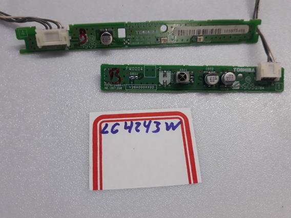 Placa Sensor Ir + Teclado De Funções Tv Semp Toshiba Lc4243w
