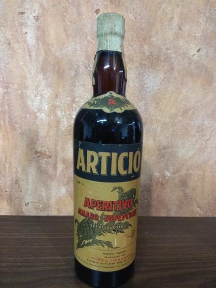 Antigua Botella Aperitivo Articio, Cerrada Corcho 760 Cm3