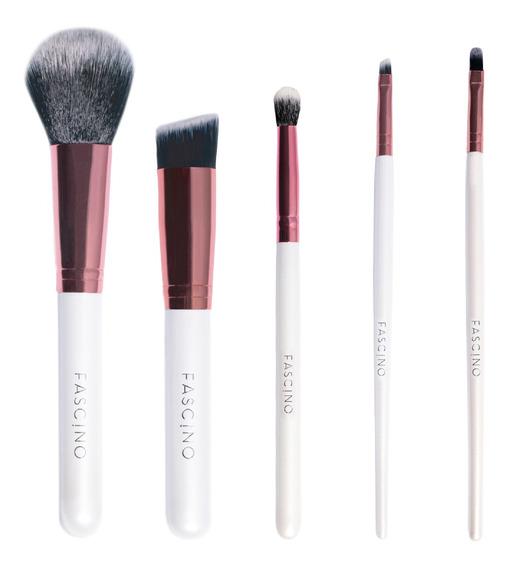 Set 5 Brochas Y Pinceles De Maquillaje Crueltyfree Fascino