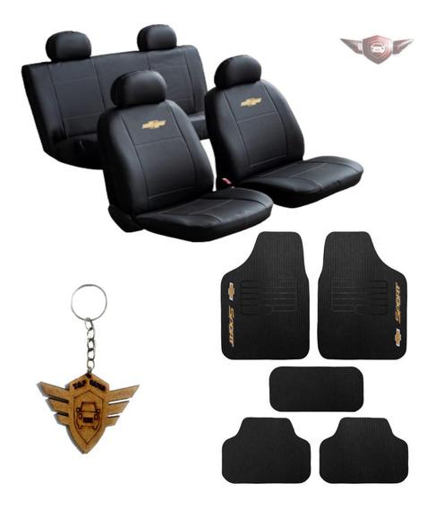 Capa Couro Tapete Volante Pedal Lixeira Limpador Chevrolet