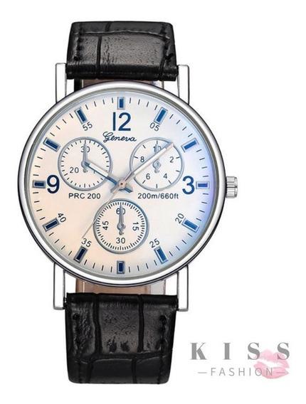 Relógio De Pulso Masculino Geneva Quartzo Casual Moda