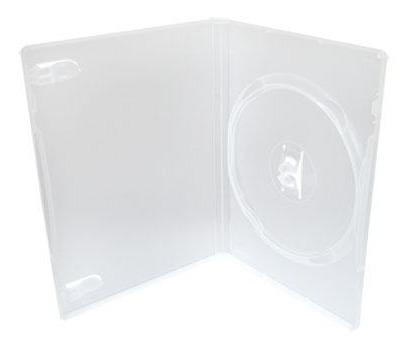100 Capa Caixinha Dvd Amaray Box Estojo Transparente