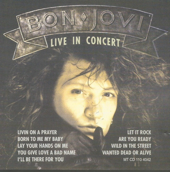 Cd Bon Jovi Live In Concert Ultra Rare Trax