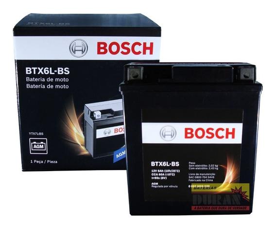 Bateria Moto Bosch Btx6l-bs 6ah 12v Cb 600 Hornet Mirage 150