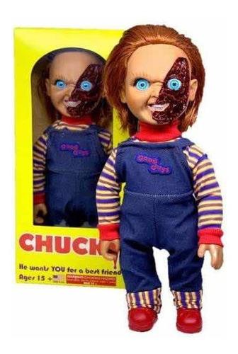 Imagen 1 de 1 de Chucky Muñeco Tipo Mezco Bootle 40 Cm