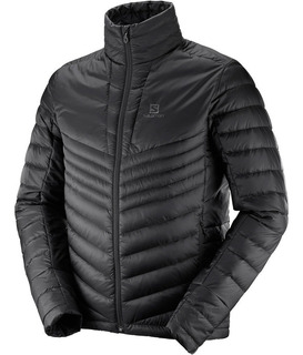 Campera Salomon Haloes Down Jacket Inflable Pluma Negra