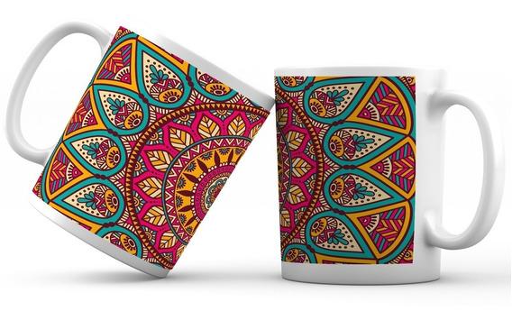 Taza Cerámica Personalizada Mandala Colección 01