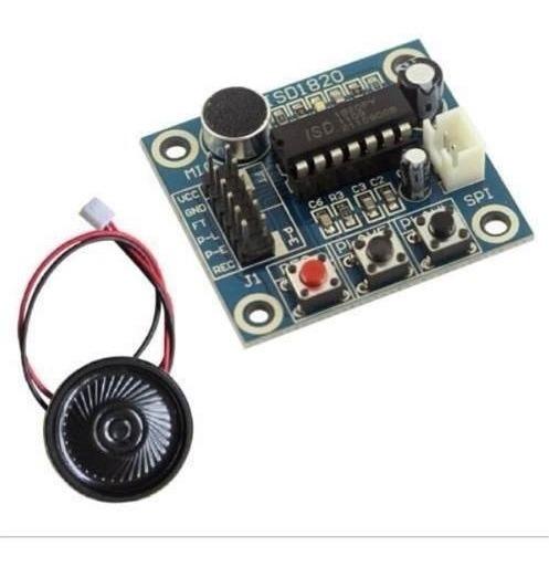 Módulo Gravador De Voz Com Microfone E Alto-falante- Isd1820